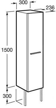 Пенал ROCA Victoria Basic A856577422 30 см консольный берёза