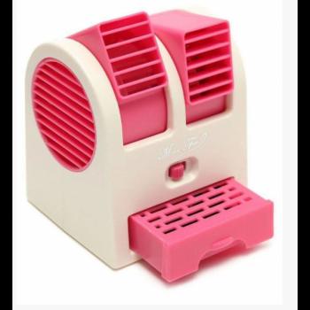 Мини-кондиционер Дорожный Портативный Mini Fan Conditioning Air Cooler Original USB Розовый