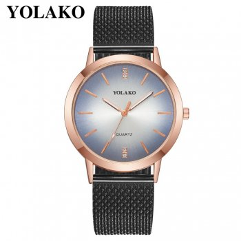 Женские классические часы Yolako, циферблат - синий, арт. (41389)