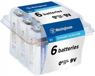 Щелочная батарейка Westinghouse Dynamo Alkaline 9V/6LR61 Крона 6 шт (889554000137)