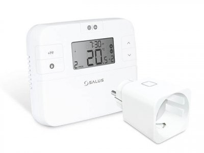 Електронний програмований термостат SALUS RT510SPE в комплекті з бездротовою розеткою