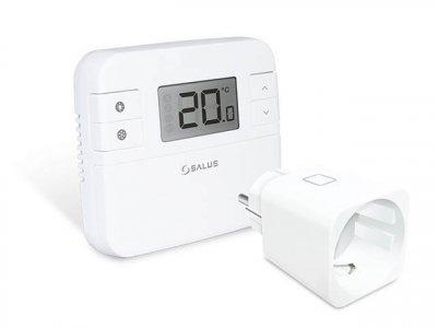 Електронний непрограмований термостат SALUS RT310SPE в комплекті з бездротовою розеткою