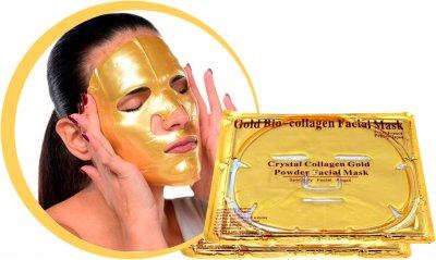 Маска гидрогелевая для лица Crystal Collagen Gold с коллагеном и био-золотом 60 г (4820208130332)