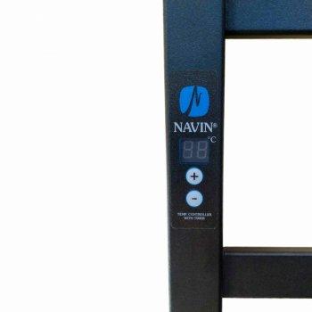 Полотенцесушитель электрический NAVIN Авангард Digital 480х1200 с таймером черный (12-228052-4812) правый