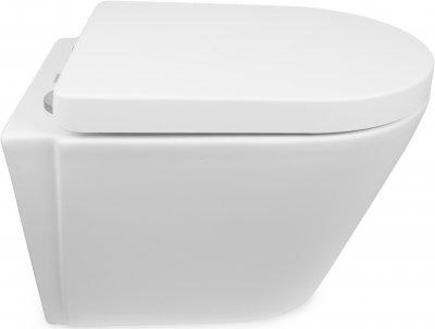 Унитаз NEWARC Life Rimless 9823W с сиденьем Soft Close дюропласт белый