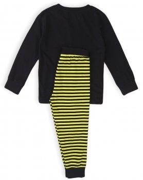 Пижама (футболка с длинными рукавами + штаны) Minoti Kb Pyj 13 17405-17406 Черная