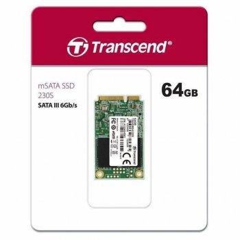Накопичувач SSD mSATA 64GB Transcend (TS64GMSA230S)