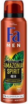 Дезодорант-спрей Fa Men Ритмы Бразилии Amazonia Spirit 0% солей алюминия 150 мл (9000101229769)