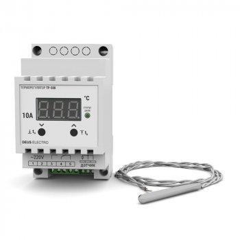 Терморегулятор для високих температур на DIN-рейку цифровий DEUS ELECTRO ТР-500