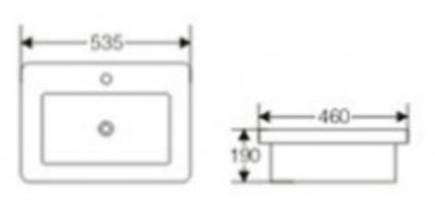 Раковина NEWARC Slim 121053W белая