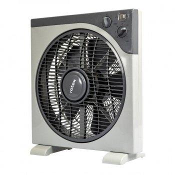 Вентилятор настільний з таймером Rotex RAT-12E 40Вт стійкий портативний білий з сірим