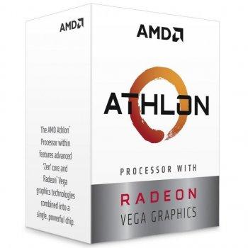 Процессор AMD AM4 Athlon 220GE Box 2x34 GHz Radeon Vega 3 1000 MHz L3 4Mb Raven Ridge 14 nm TDP 35W (YD220GC6FBBOX)