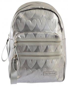 Рюкзак жіночий Yes Weekend YW-41 Silver Heart 39 x 24 x 11 см Сріблястий