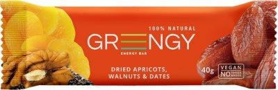 Упаковка батончиков Greengy Финики, Курага, Грецкие орехи и Чиа 12 шт х 40 г (4820221320482)