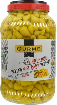 Перец Gurme 212 Baby острый маринованный 3.75 кг (8680697447665)