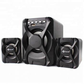 Комп'ютерні колонки Kisonli U-2500 BT Desktop Speaker 2.1 USB з крутим потужним сабвуфером Black