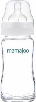 Стеклянная бутылка для кормления Mamajoo №2 M с силиконовой соской 240 мл (8697767124418)