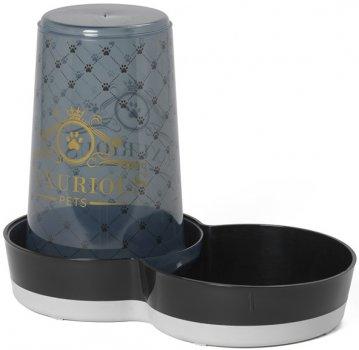 Автоматична годівниця-поїлка для собак Moderna Tasty Jumbo Luxurious Pets 2в1 15х27х21 см 1.5 л Чорний (5412087013111)