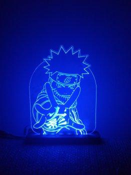 3D світильник-нічник Zayaka Naruto аніме Наруто Синій 632