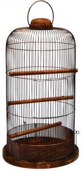 Клетка для птиц Лорі Loft Рондо 67 х 36 х 36 см Коричневая (4823094305426)
