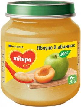 Упаковка фруктового пюре Milupa Яблуко й абрикос з 6 місяців 6 шт. х 125 г (8591119003805)