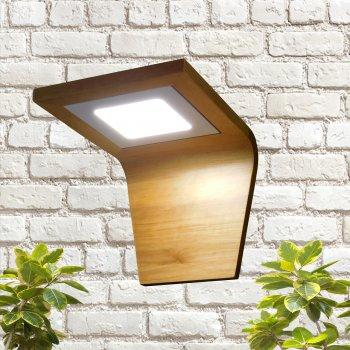 Бра Electropark, світильник з натурального дерева, світильник led 6W, LED панель, квадрат (LS-000011)