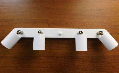 Світильник настінний Electropark, спот поворотний, стельова лампа, на чотири лампи, білий колір (LS-000060)