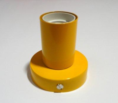 Світильник настінний Electropark, стельова лампа, мінімалізм, стандартний цоколь, помаранчевий колір (LS-000113)