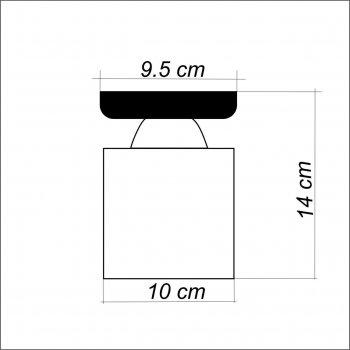 Світильник стельовий Electropark, мінімалізм, стандартний цоколь, білий колір, квадратний плафон (LS-000099)