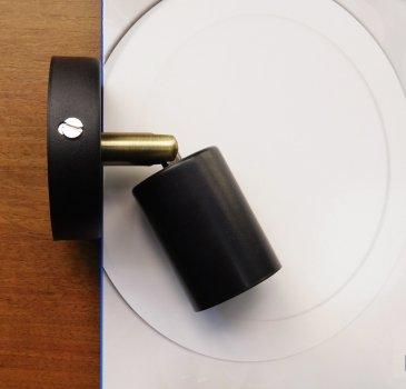 """Світильник настінний Electropark, спот поворотний """"SLEEVE"""" Е27 на одну лампу, чорний колір (LS-000046)"""