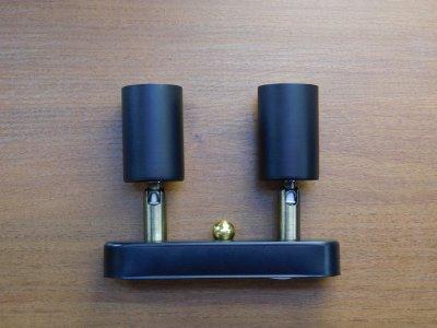 Світильник настінний Electropark, спот поворотний, стельова лампа, на дві лампи mini, чорний колір (LS-000057)