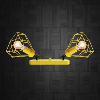 Світильник настінний Electropark, бра поворотне, стельова лампа RUBY/LS-2 жовтий (LS-0000465)