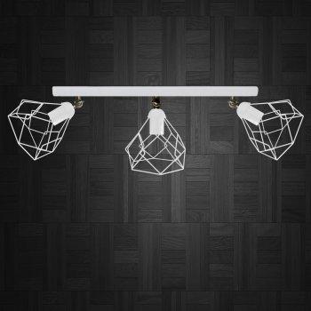 Світильник настінний Electropark, бра поворотне, стельова лампа RUBY/LS-3 білий (LS-0000477)