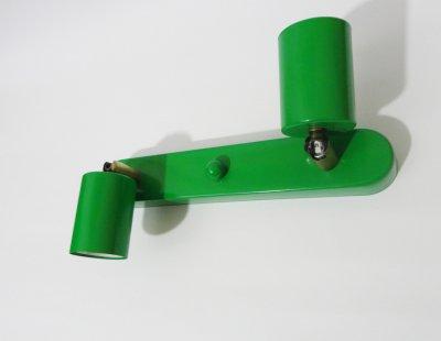 Світильник настінний Electropark, спот поворотний, стельовий світильник, на дві лампи, Е27 зелений колір (LS-00012231)