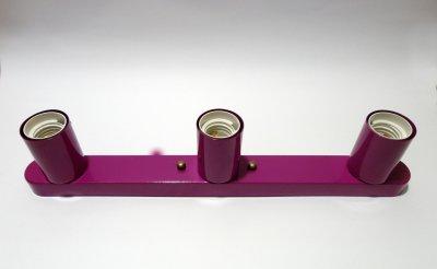 Світильник настінний Electropark, стельова лампа, мінімалізм, стандартний цоколь, бордовий колір (LS-0001224)