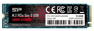 Silicon Power P34A80 512GB M.2 2280 PCIe 3.0 x4 NAND TLC (SP512GBP34A80M28)