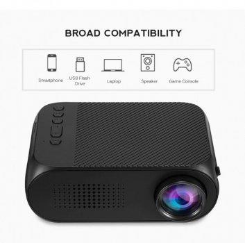 Портативный проектор Projector LED YG320 Mini с динамиком черный