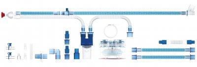 Контур дыхательный Flexicare неонатальный с одной линией обогрева