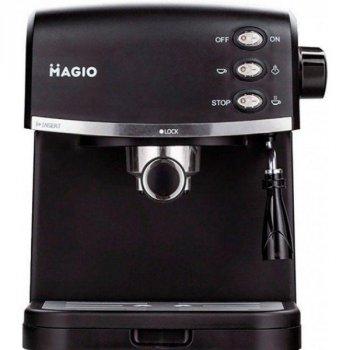 Кофемашина для дома Magio MG-963 Original 950 В рожковая кофеварка капельного типа для эспрессо с капучинатором и съемным поддоном (MG-963)