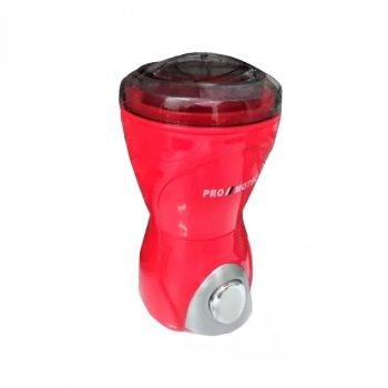 Кавомолка електрична Promotec PM-593 HG Red кухонний подрібнювач для кави горіхів бобових зернових цукру маку і спецій 280 Вт (46317 I)