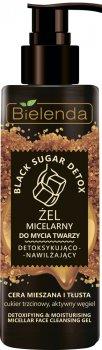 Міцелярний гель Bielenda Black Sugar Detox детоксифікувальний та зволожувальний для вмивання обличчя змішаної та жирної шкіри 200 г (5902169032883)