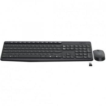 Комплект Logitech Wireless Desktop MK235 чорна USB (радіо, клавіатура+оптична миша) (920-007948)