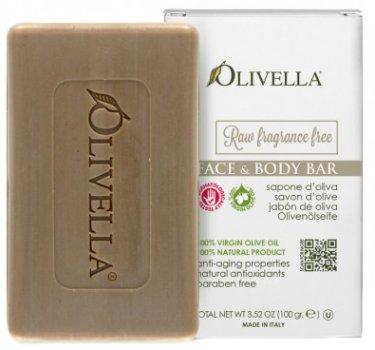 Мыло для лица и тела Olivella Для чувствительной кожи на основе оливкового масла не ароматизированное 100 г (764412310002)