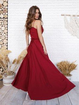 Платье ISSA PLUS 11745 Бордовое
