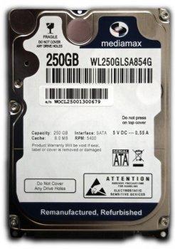 Жорсткий диск (HDD) Mediamax 5400rpm 8MB (WL250GLSA854G) Refurbished (WL250GLSA854G_)