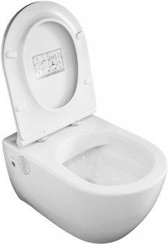 Унитаз подвесной CERASTYLE City 018700 безободковый + сиденье Soft Close 9SC1061S01
