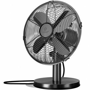 Настольный металлический вентилятор Kesser KE-15283 30см Черный