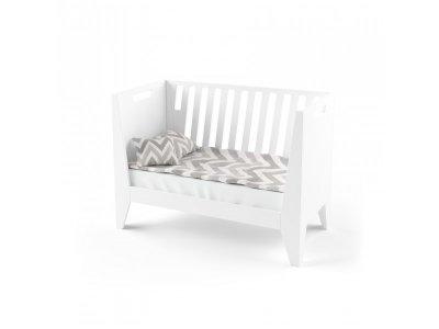 Кроватка-трансформер Indigo Wood для новорожденного Scandic белая (39599)