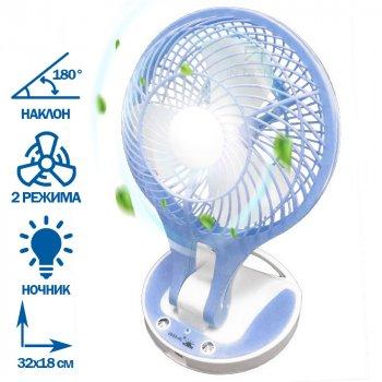 Компактний портативний міні USB вентилятор з охолодженням Handy Mini Fan 18650 юсб – Кімнатний - маленький безшумний ручної охолоджувач 2 режиму на акумуляторі для дому офісу квартири машини, Синій