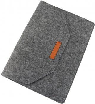 """Чохол для ноутбука Traum 15"""" з додатковим чохлом для БЖ Dark Grey (7112-46)"""